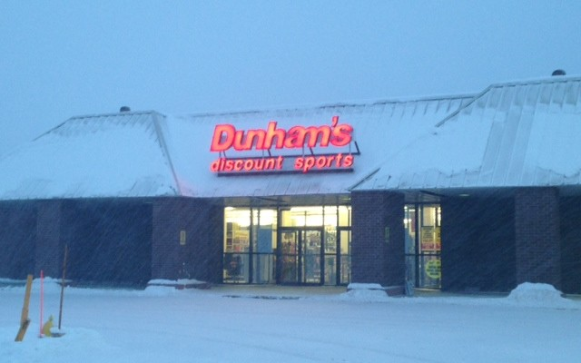 Dunham's Sporting Good store in Marquette, MI.