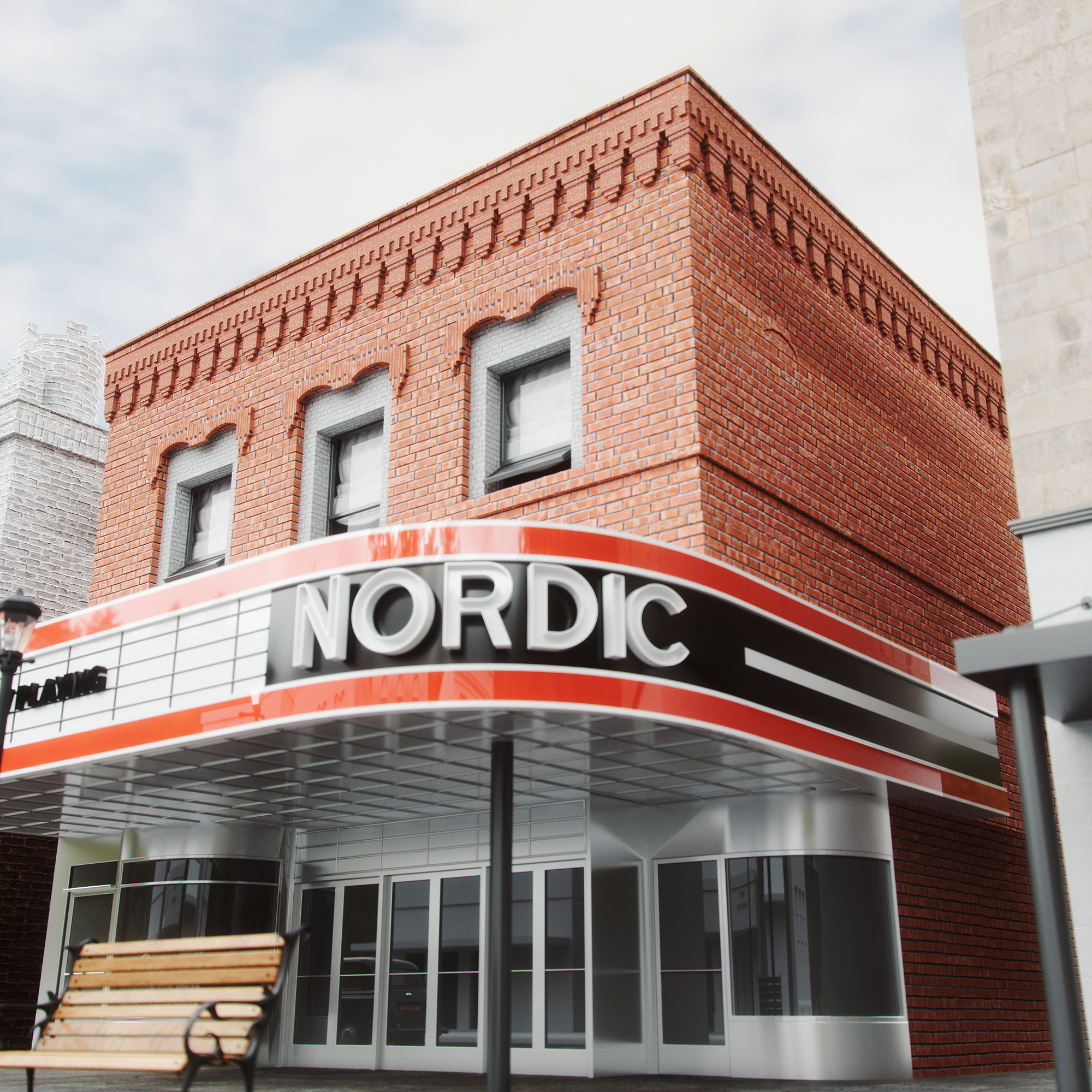 The Nordic Theater Building in Marquette, MI